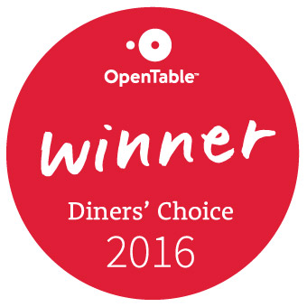 2016 OpenTable Diners Choice Award