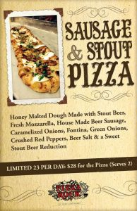 SAUSAGE & STOUT PIZZA
