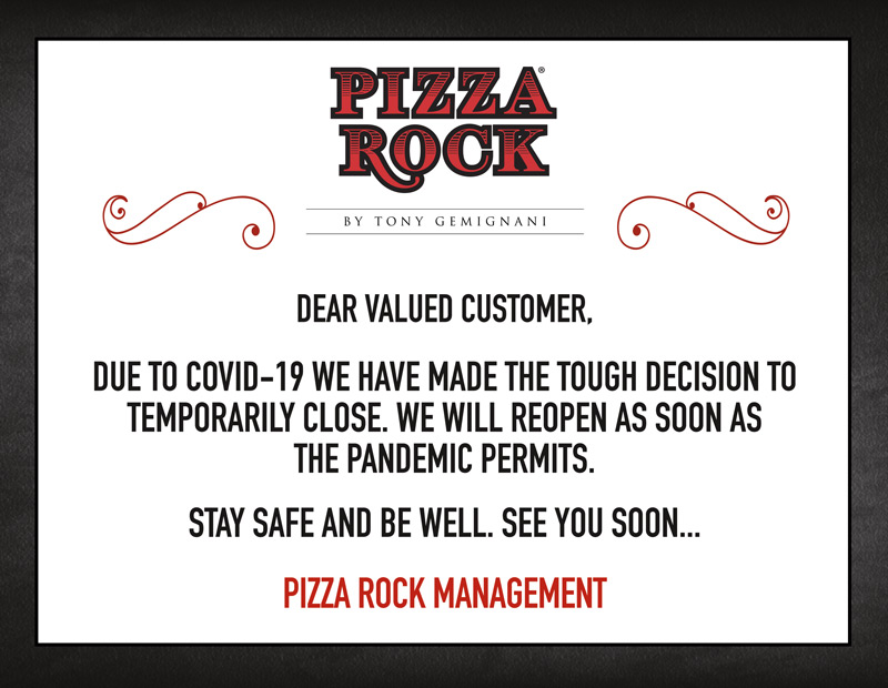 Due to COVID-19 we are temporarily closed